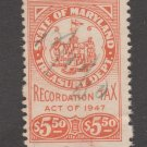 USA - State Maryland Revenue Fiscal Stamp 11-7-20-73c