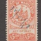 USA - State Maryland Revenue Fiscal Stamp 11-7-20-73e