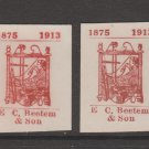 Famous Rug Company 1913-ish mint no gum 1-10--21 stamp scarce - Royality?