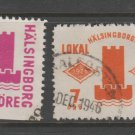 Sweden Fiscal Revenue stamp 10-17b-21 Local Post Used -11d