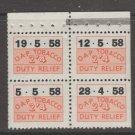 UK Tobacco revenue Fiscal stamp 2-14-21- mnh gum - nice