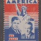 USA Cinderella or revenue stamp 3-14-21- as seen Wilkie 4 Pres 1940 no gum