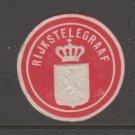 Netherlands Telegraph revenue Cinderella stamp 3-17-21 nice no gum