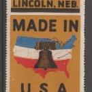 USA Cinderella or revenue stamp 3-17-21- Large stamp used no gum