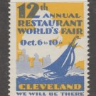 USA Cinderella stamp 4-2-21 Cleveland OHIO 12th restaurant world's fair MNH Gum