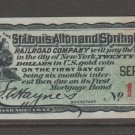 USA Cinderella Revenue stamp 4-2-21 Train - Nice Art Work- Bond Coupon OLD