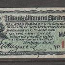 USA Cinderella Revenue stamp 4-2-21 Train - Nice Art Work- Bond Coupon OLD