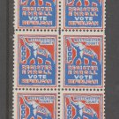 1950 Republic Register Vote GOP Republican Party Westchester MNH GUM- 3f