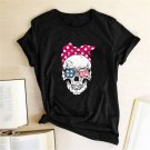 Oversized Halloween Shirt Human Skull Halloween Custom T-Shirt