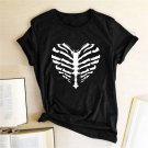 Skeleton Ribs Halloween T-Shirts - Scary & Funny Halloween Costume T-Shirt  For Men Women