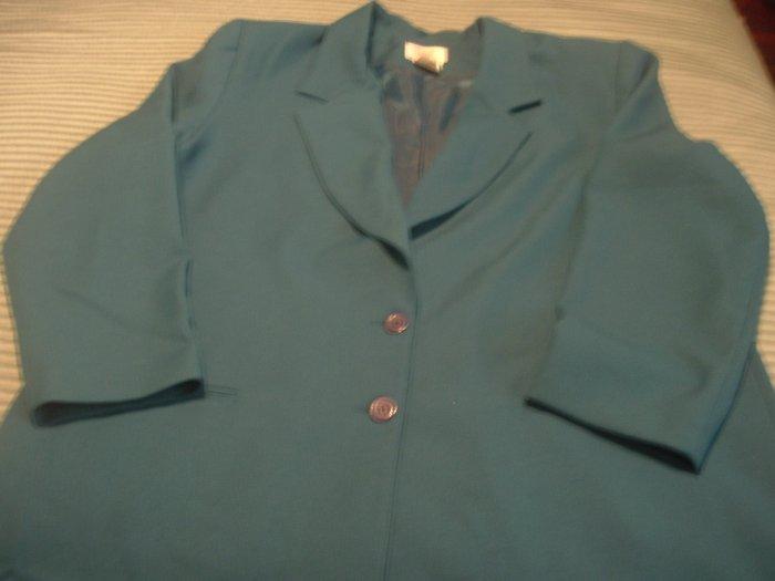 Graff California Wear-Jacket-Teal SZ 18
