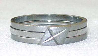 18kgp band ring #2 Free Shipping