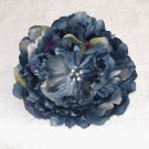 Large Wedgwood Blue Peony Hair Clip / Brooch