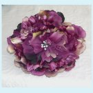 Large Plum Peony Hair Clip / Brooch Combination