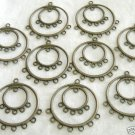 10 Pcs Brass Double Rings Chandelier Earring Findings Free Shipping