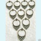 10 Pc of Antique Bronze Chandelier Earring Findings ew1 Free Shipping