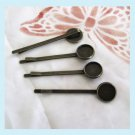 8 Pieces of Antiqued Brass Bobby Pins with Setting Tray