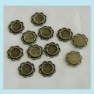 10 Pieces Of Antiqued Brass Lace Round Base Settings Free Shipping