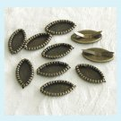 10 Pieces Of Antiqued Brass Marquise Base Settings free Shipping