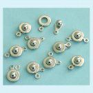 8 Pieces of WG Color Ball and Socket Clasps Free Shipping