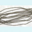 5ft of Antiqued Bronze Ball Chain W/ 2 Connector Clasps Free Shipping