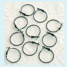 20 Pieces of 25mm Black Enamel Hook Earrings