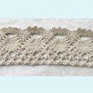 4 Yards of Ivory And Mocha Crochet Ribbon Free Shipping