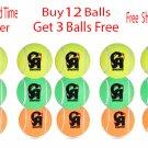 CA Swing Tennis Ball Soft Ball, Buy 12 Balls & Get Free 3 Balls Pack of ( 15 Balls )