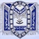 Masonic APRON Past Master Regalia APRON With Free COLLAR CHAIN & Matching JEWEL