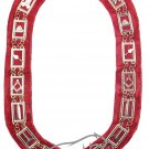 Masonic Blue Lodge CHAIN COLLAR Red Velvet with Free Shipping