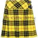 38 - Size - Scottish Ladies Macleod of Lewis Tartan KILTED SKIRT Mini Length Billie Skirt