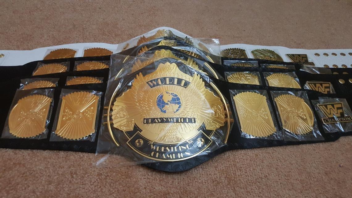 WWF Classic Gold Winged Eagle Championship Belt Adult Size.