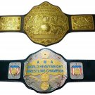 WWE Big Gold World Heavyweight Wrestling Belt + AWA World Heavyweight Belt 4mm Zinc Plate