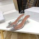 Amina Muaddi Begum Pvc Slingback Pumps Fashion Women Amina Muaddi Shoes