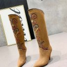 Woman Shoes Genuine Leather Brown Isabel Marant Boots Western Isabel Marant Denvee Tall Knee Boots