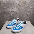 Man Shoes Amiri Skeleton Slip-on Sneakers Low-top Fashion Blue Shoes