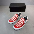 Man Shoes Amiri Skeleton Slip-on Sneakers Low-top Fashion Red Hollywood Los Angeles Shoes