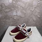 Man Shoes Amiri Sneakers Bandana Chain Embellished Leather-trimmed Suede Slip-on Kanye West Sneakers