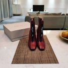 Women Shoes Jimmy Choo Boots Red Genuine Leather Boots Zipper