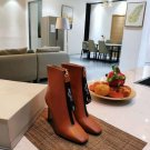 Women Shoes Jimmy Choo Boots Brown Genuine Leather Boots Zipper