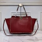 Women Bag Rockstuds Handbag Medium Rockstud Bag Red Tote
