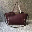 Women Bag Rockstuds Handbag Medium Rockstud Bag Grain Leather Tote