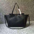 Women Bag Rockstuds Handbag Medium Rockstud Bag Grain Black Leather Tote