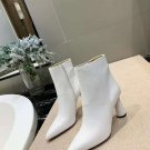 Women Shoes Jacquemus Ankle Boots White Genuine Leather Zipper Boots