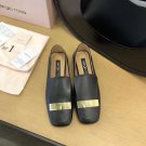 Women Shoes Sergio Rossi Flats Shoes Black Leather
