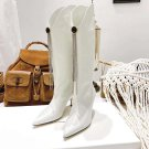 Women Shoes Magda Butrym Boots England White Genuine Leather Knee-high Boots