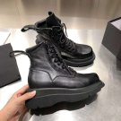 Women Shoes Julius 7 Boots Black Genuine Leather Fashion Punk Martin Boots