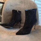 Women Shoes Rene Caovilla Boots Black Heeled Ankle Boots Virginie Boots