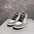 Men's Shoes Amiri Skel High-top Sneakers Skeleton White Gray Lace-up Amiri Sneakers