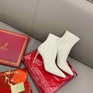 Women Shoes Rene Caovilla Boots Sock Stretch Bling Bling 9.5cm Heel Ankle Boots